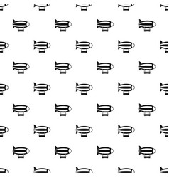Striped dirigible pattern vector