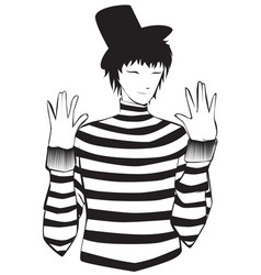 mime artist vector image