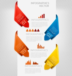 Info graphics banner with numbers modern design vector