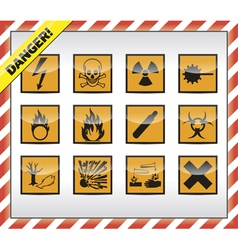 Danger symbols vector
