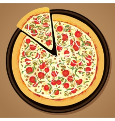 Delicious pizza vector
