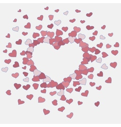 Hand drawn heart background vector