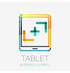 Tablet screen icon company logo business concept vector