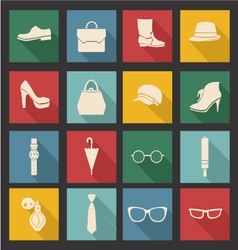 Accessories-icon-set vector