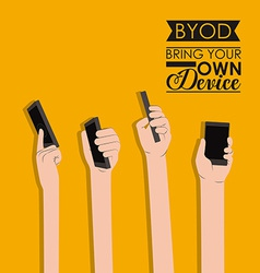 Byod design vector image