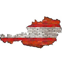 Austria map on a brick wall vector