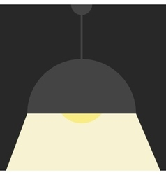 Gray ceiling lamp vector