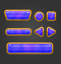 Set button in cartoon style -2 vector