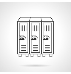 Locker flat line icon vector image