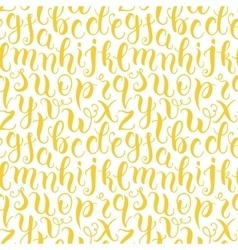 Hand drawn abc letters seamless pattern vector
