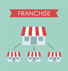 Business concept franchise business vector
