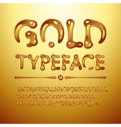 Gold typeface vector