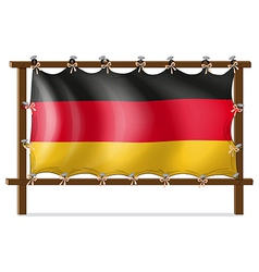 A wooden frame with a german flag vector