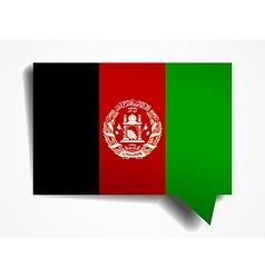Afghanistan flag paper 3d realistic speech bubble vector