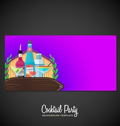 Alcohol cocktails banner backdrop template vector