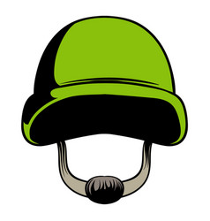 Army helmet icon cartoon vector
