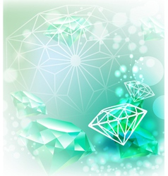 Background with gemstone vector image vector image