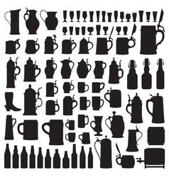 Beerware silhouettes vector