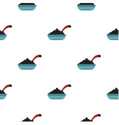 Black caviar pattern flat vector