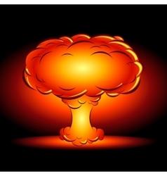 Bomb blast in style comics cartoons vector