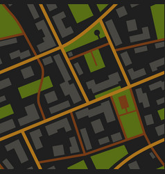City map night view pattern vector
