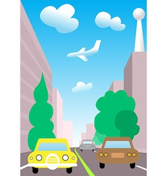 City traffic cartoon vector