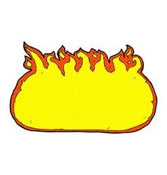 comic cartoon fire border vector image vector image