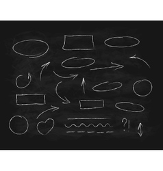 Hand-drawn chalk scribble design elements vector