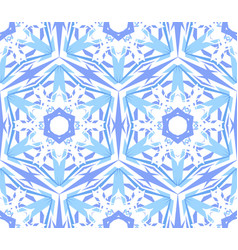 Kaleidoscopic pattern light blue star vector