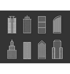 line buildings vector image vector image