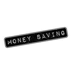 Money saving rubber stamp vector