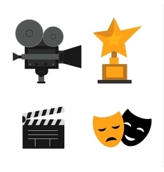 Movie making symbols set vector