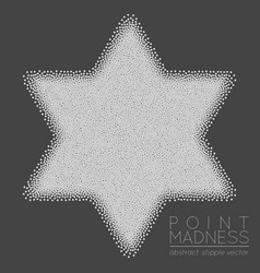Of abstract dotted symbol star of vector