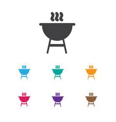 of trip symbol on kebab icon vector image