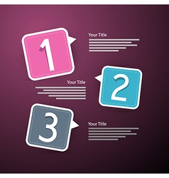 Progress three steps for tutorial infographics vector