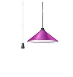 Retro hanging lamp with cord switch vector