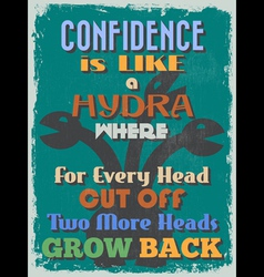 Retro vintage motivational quote poster confidence vector