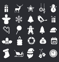 set of christmas icons set of christmas icons vector image