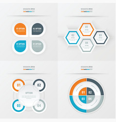 set of presentation design orange blue gray vector image vector image