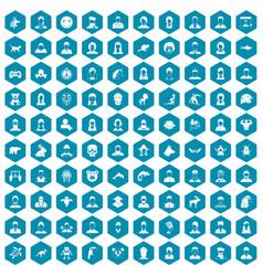 100 avatar icons sapphirine violet vector