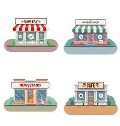 Flower shop laundry barber  bakery newsstand vector