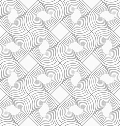 Slim gray hatched twisted shapes in turn vector