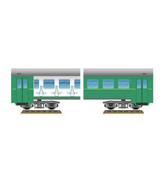 suburban electric train vector image