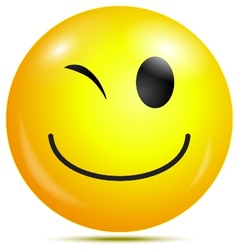 Happy smiley emoticon vector image