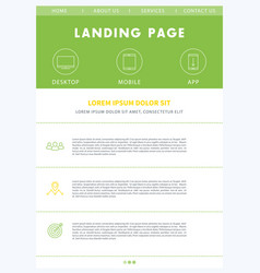 Landing page concept flat website design template vector