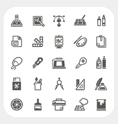 Art and graphic design icons set vector