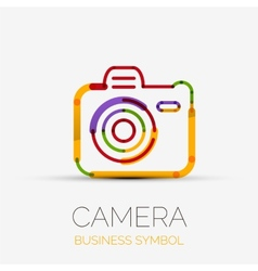 Camera icon company logo business symbol concept vector