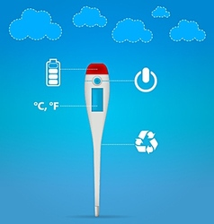 Electronic medical thermometer vector