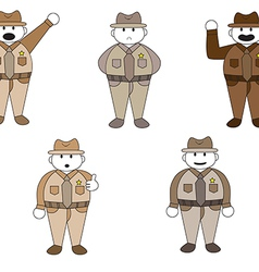 Officer cartoon character vector