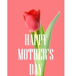 Happy mother day poster card vector